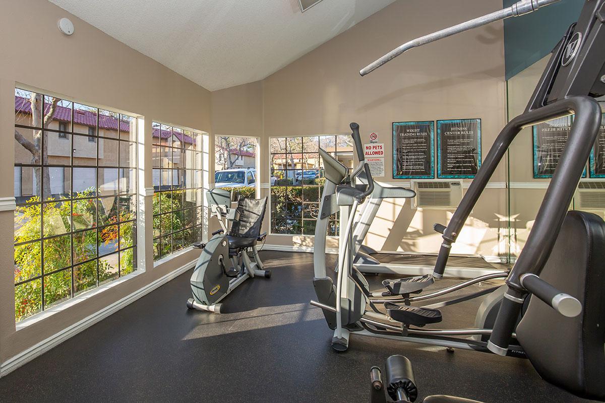 Villa La Paz Apartment Homes community gym