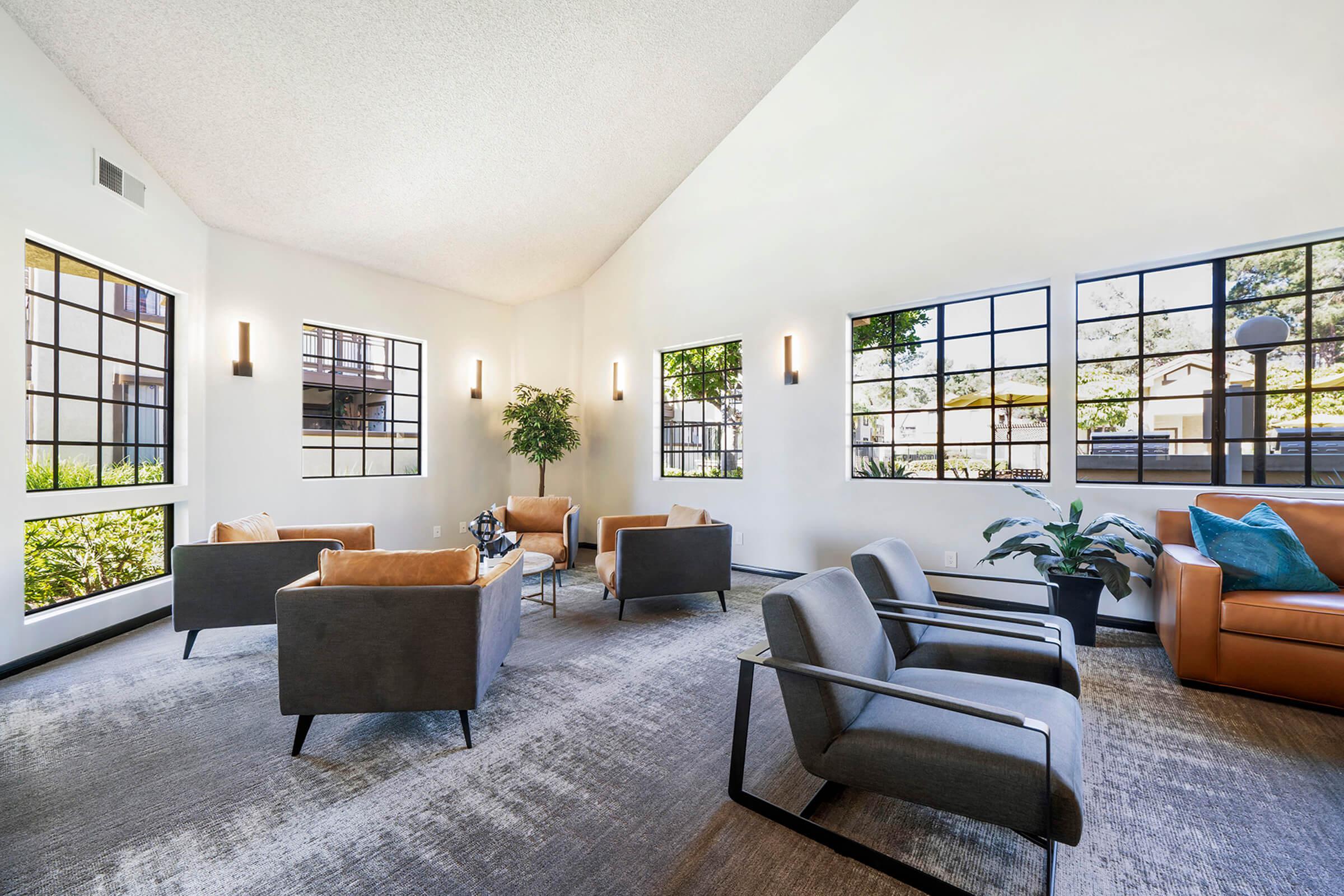 Villa La Paz Apartment Homes community room with chairs