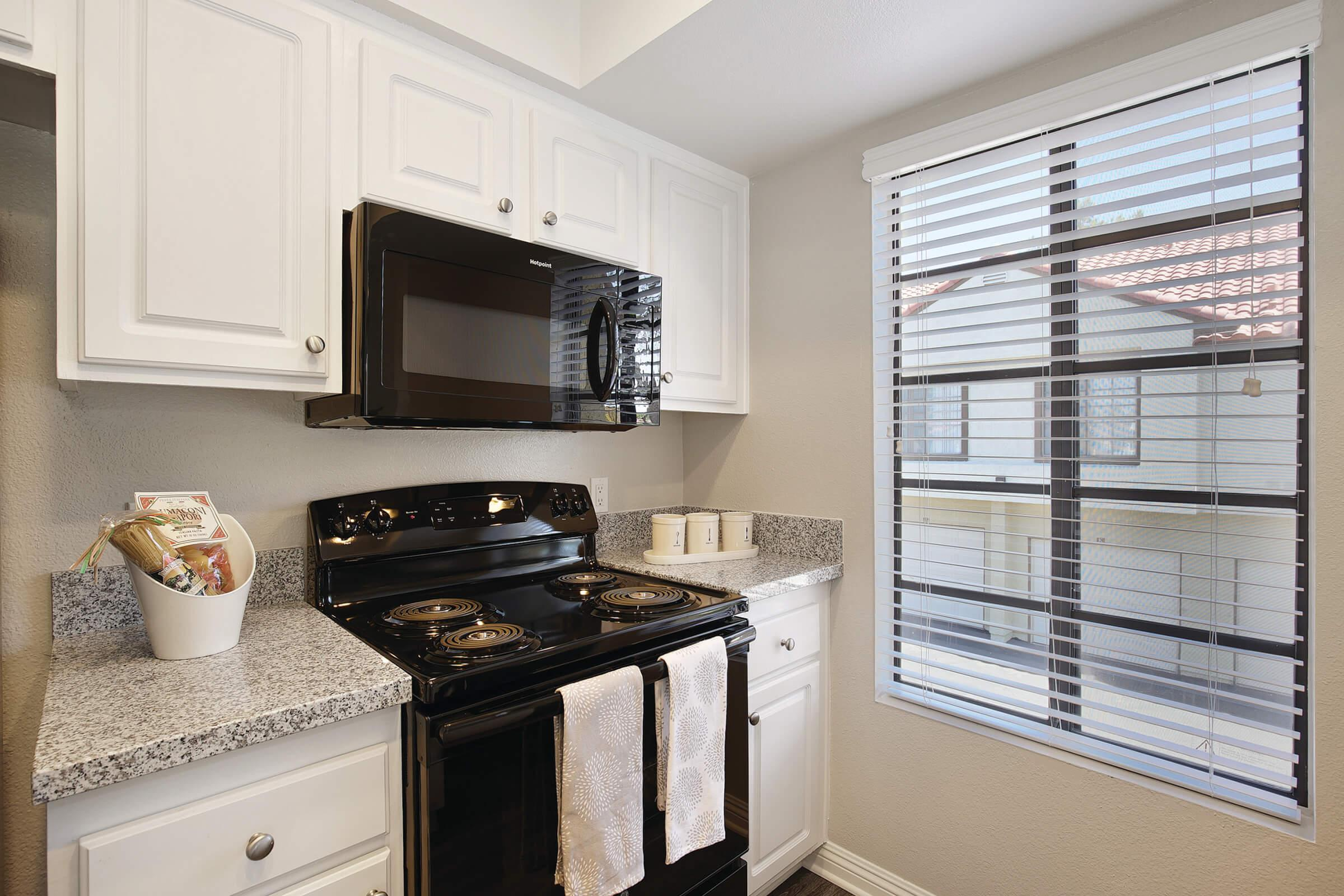 Kitchen stove and microwave