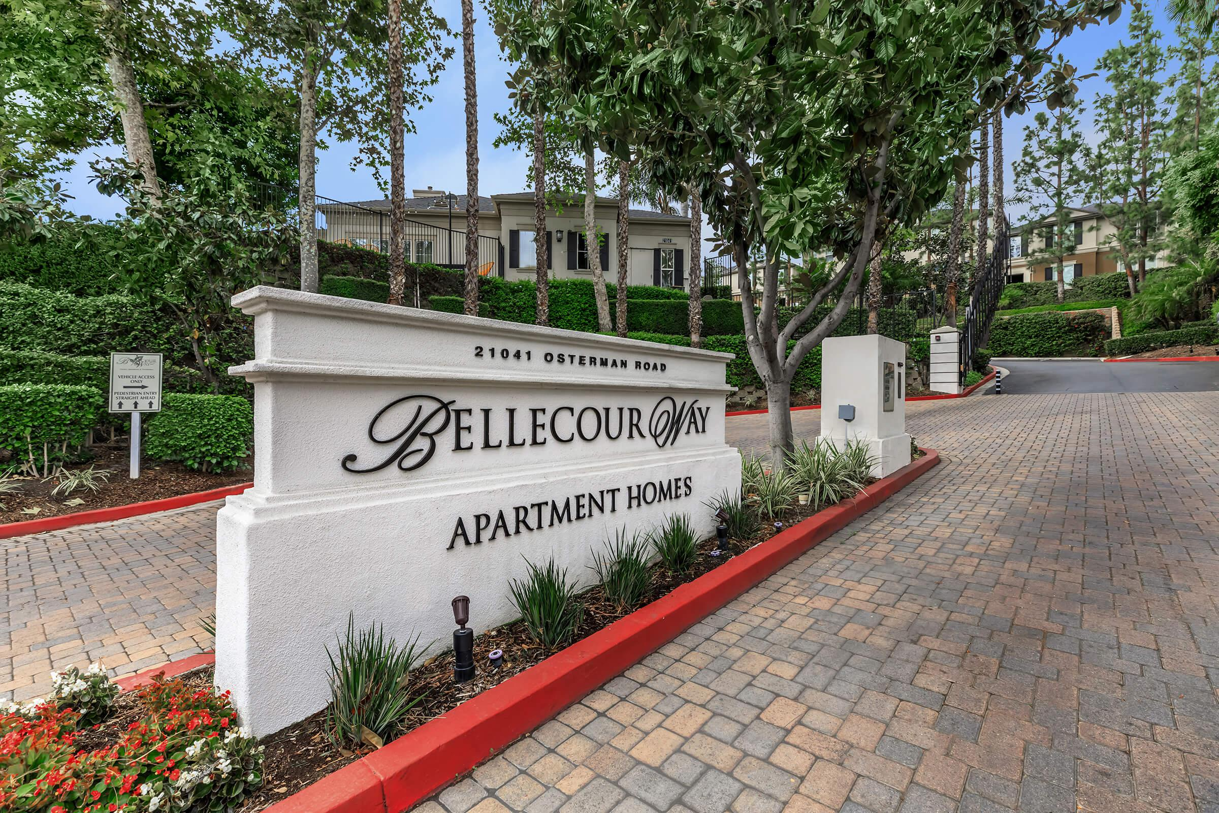 Bellecour Way Apartment Homes monument sign