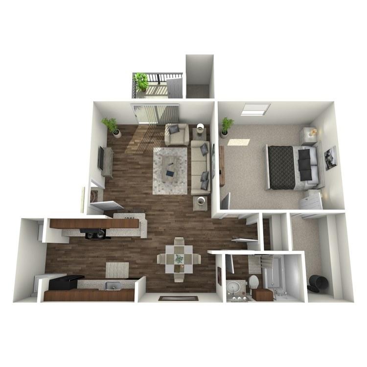 Floor plan image of 1 Bed 1 Bath S