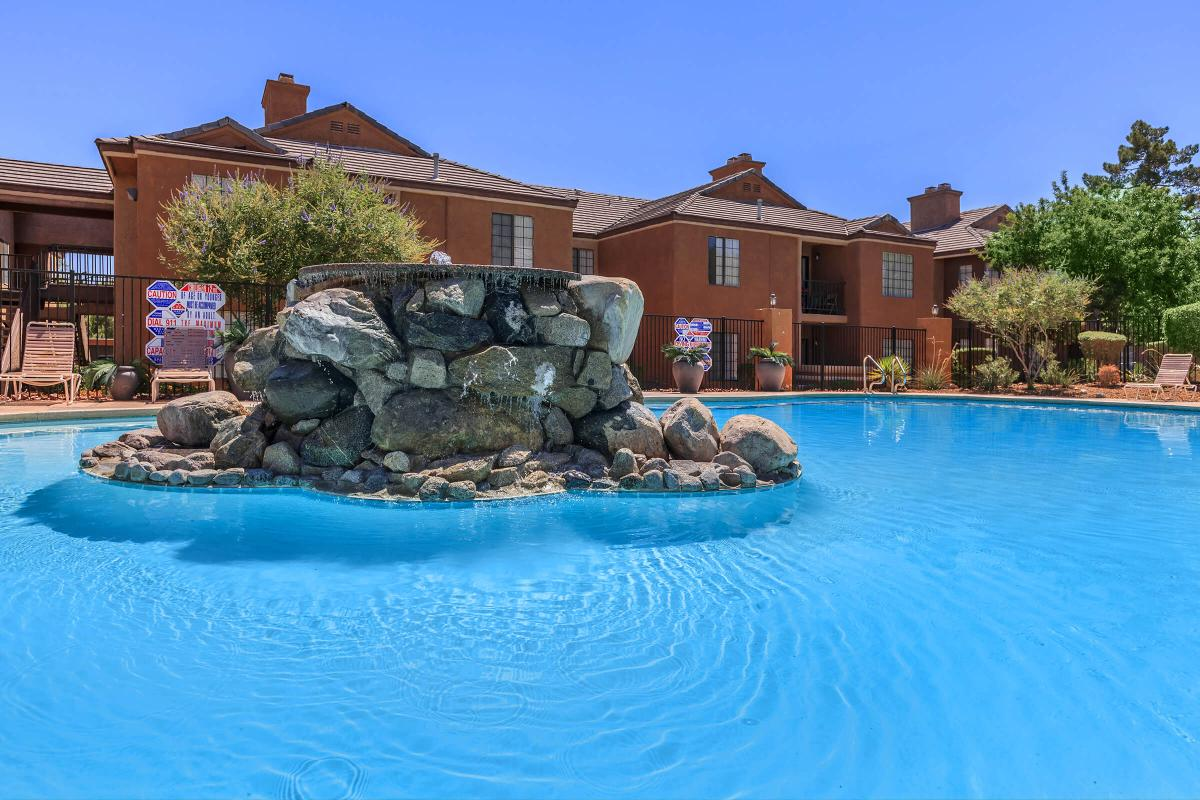 ENJOY OUR SHIMMERING SWIMMING POOL AT CANYON CREEK IN LAS VEGAS, NEVADA