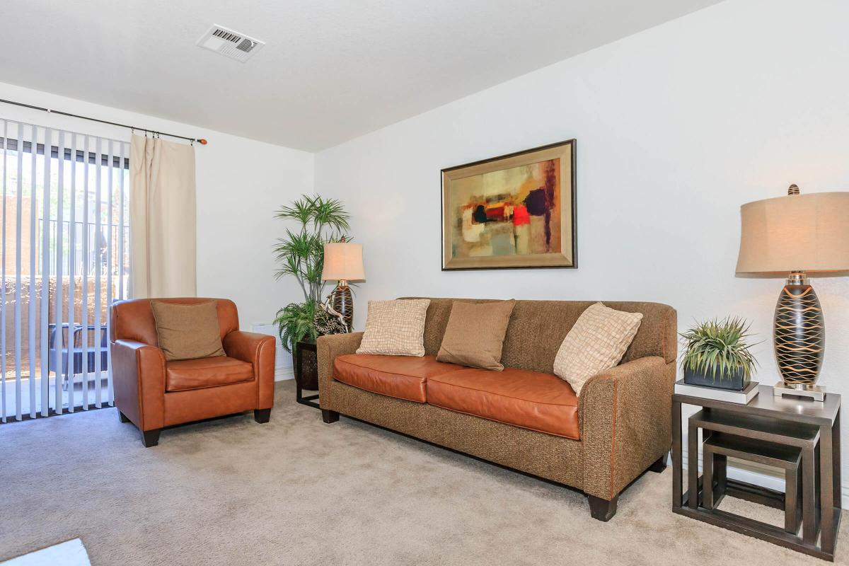YOUR NEW LIVING ROOM AT CANYON CREEK VILLAS IN LAS VEGAS, NEVADA