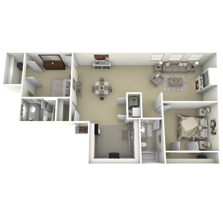 Floor plan image of 2 Bed 2 Bath I