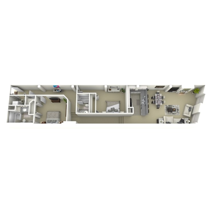 Floor plan image of 2 Bed 2 Bath O