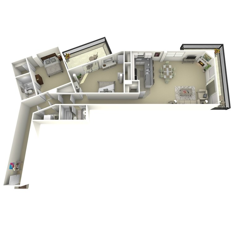 Floor plan image of 2 Bed 2 Bath T