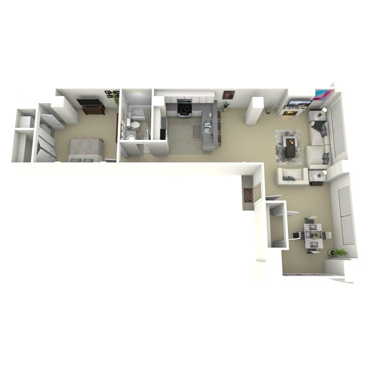 Floor plan image of 1 Bed 1 Bath I