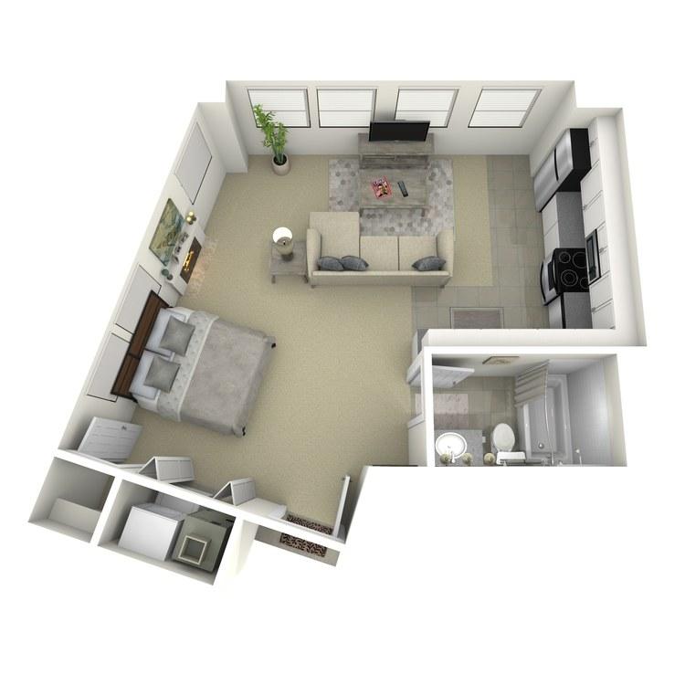 Floor plan image of Studio B
