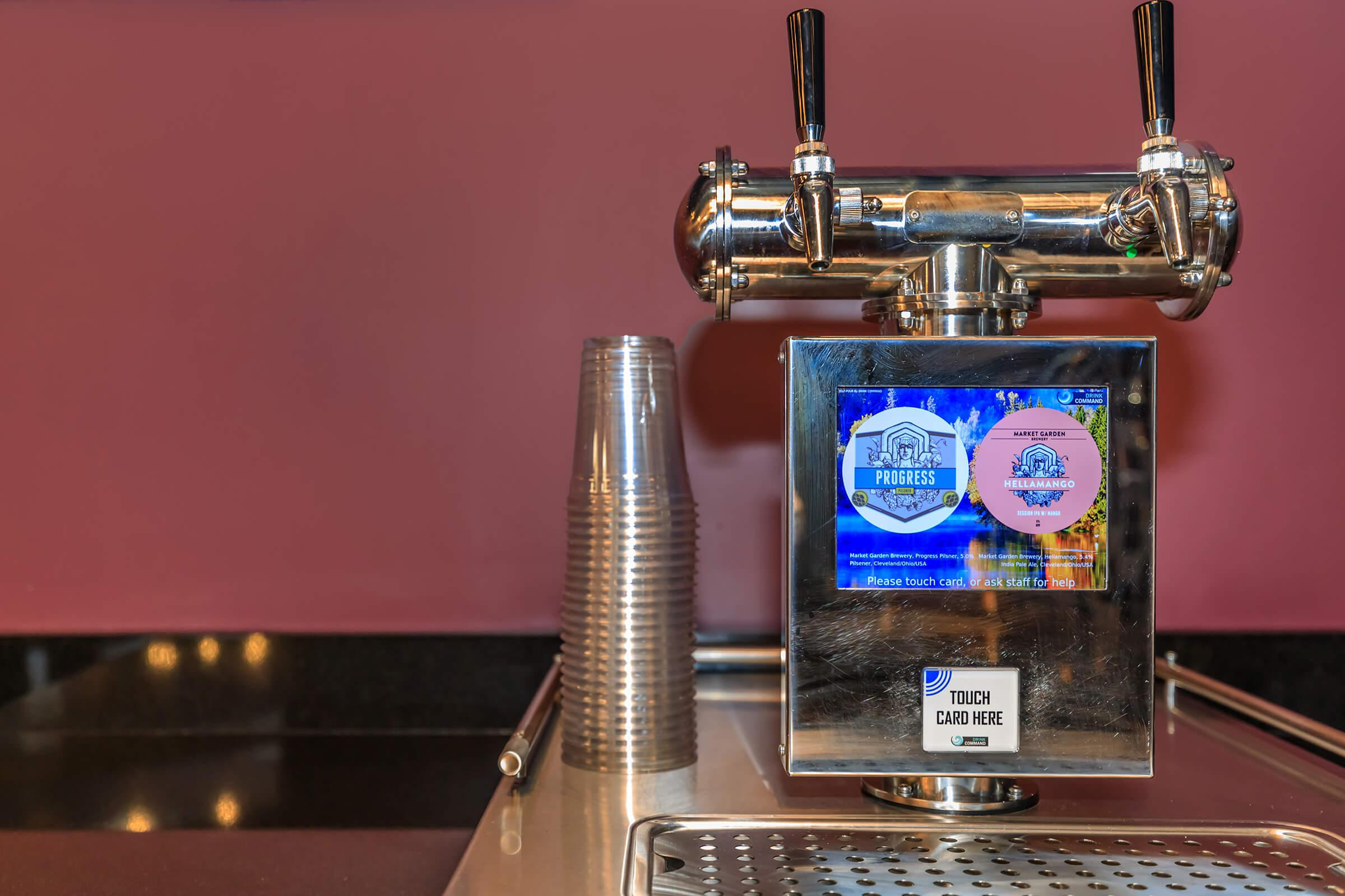 COMPLIMENTARY BEER TAP