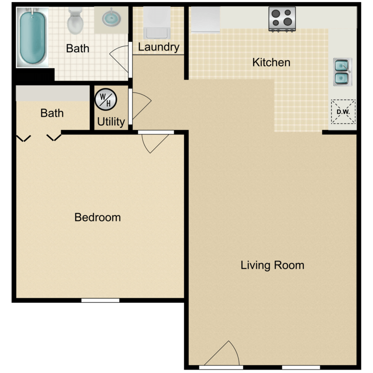Floor plan image of The Fisk