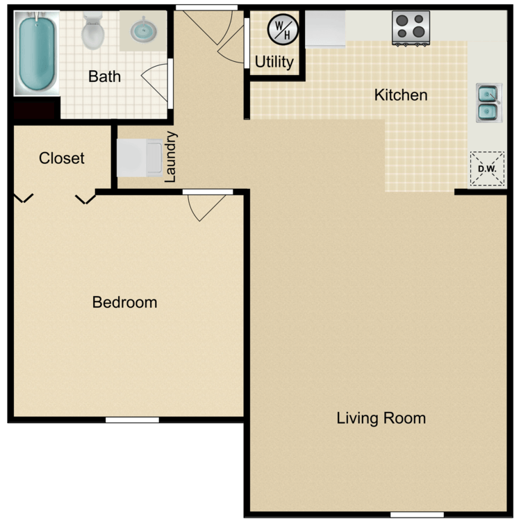 Floor plan image of The Hendrix