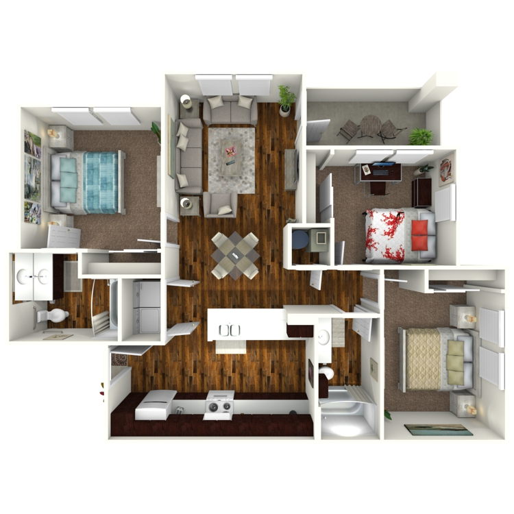 Floor plan image of Bluebonnet ADA