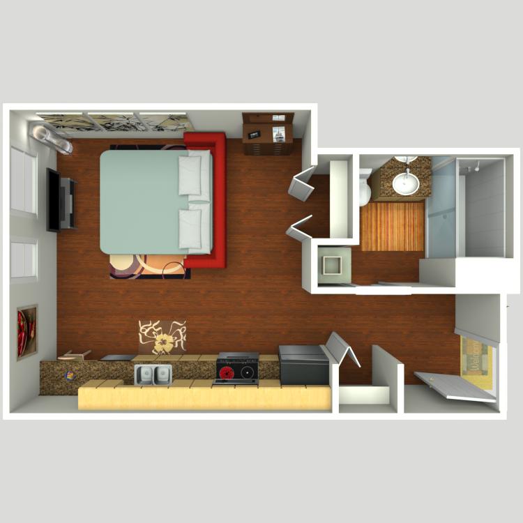 Floor plan image of Studio D