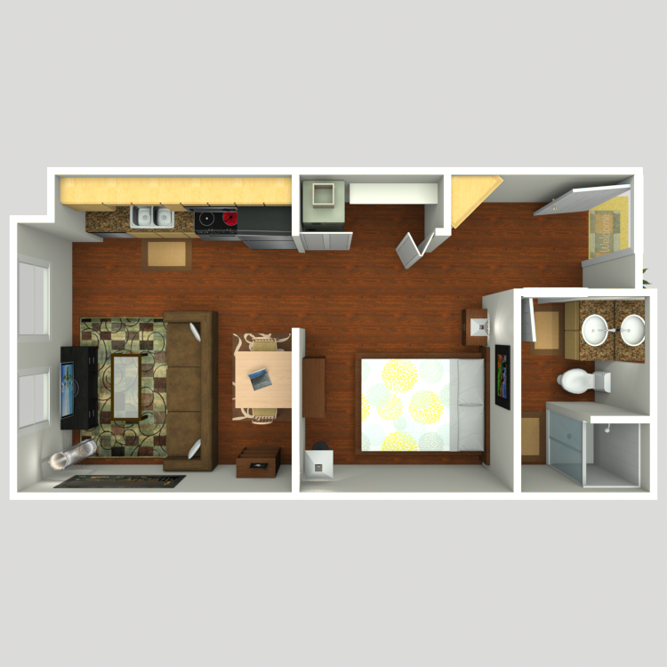 Floor plan image of Open 1x1 A