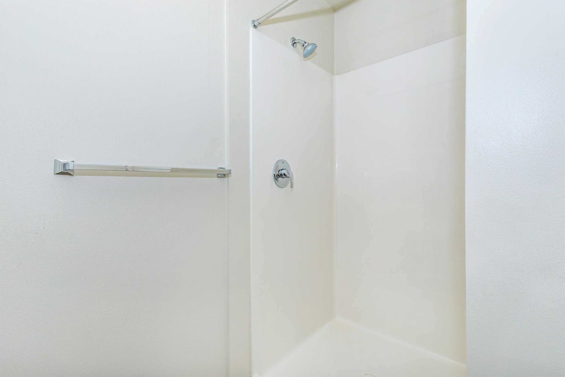 a close up of a shower