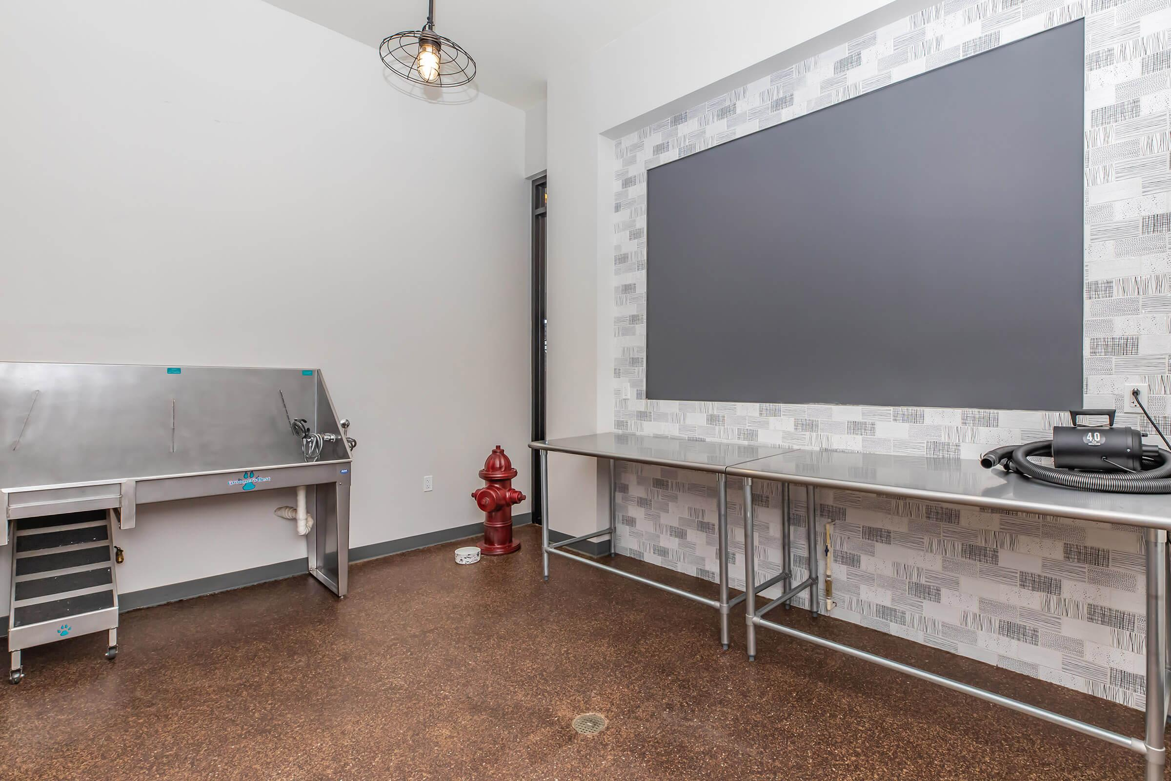 a large flat screen tv sitting in a room