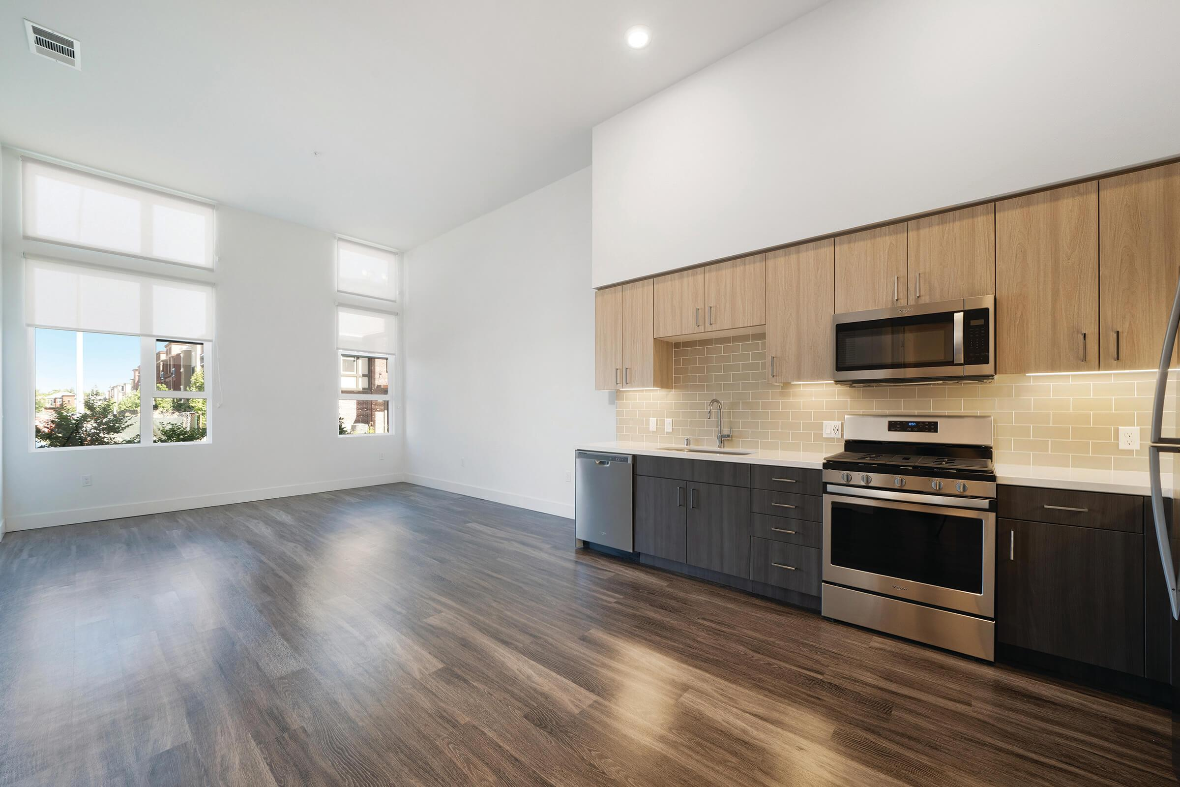 Unfurnished kitchen and dining room