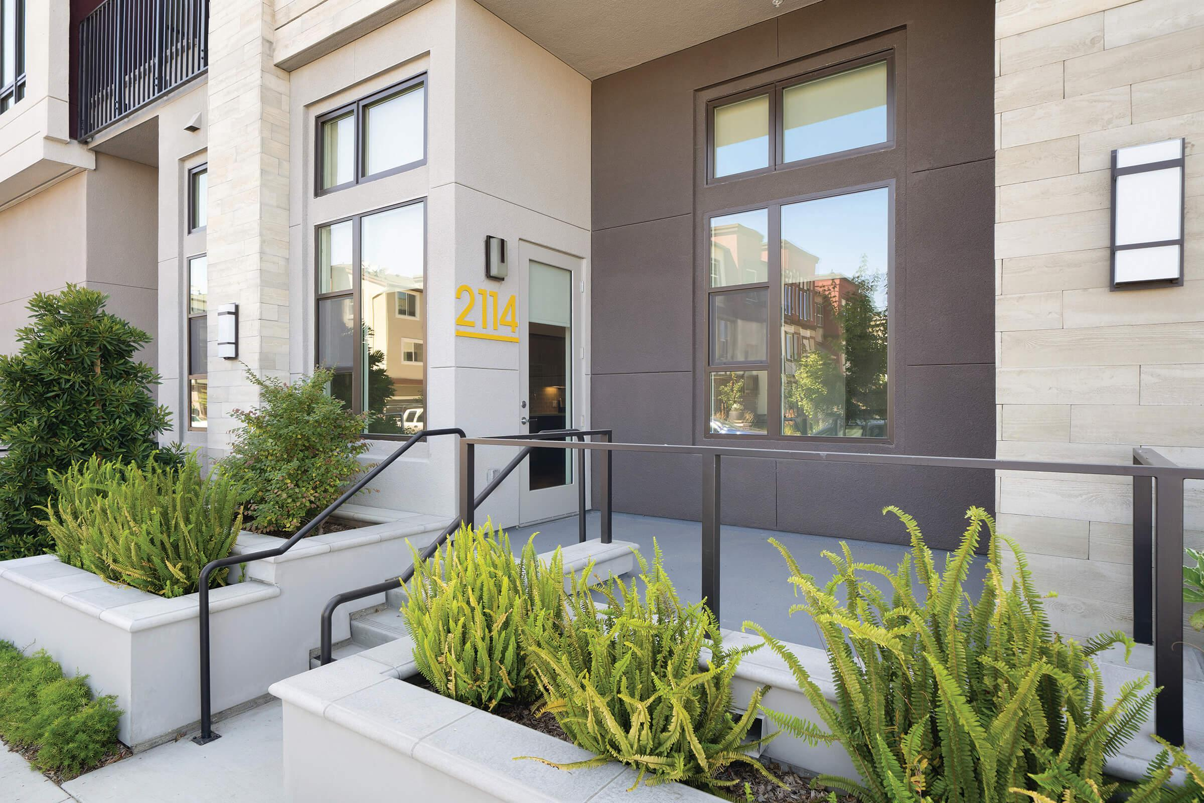The Platform Urban Apartments entrance