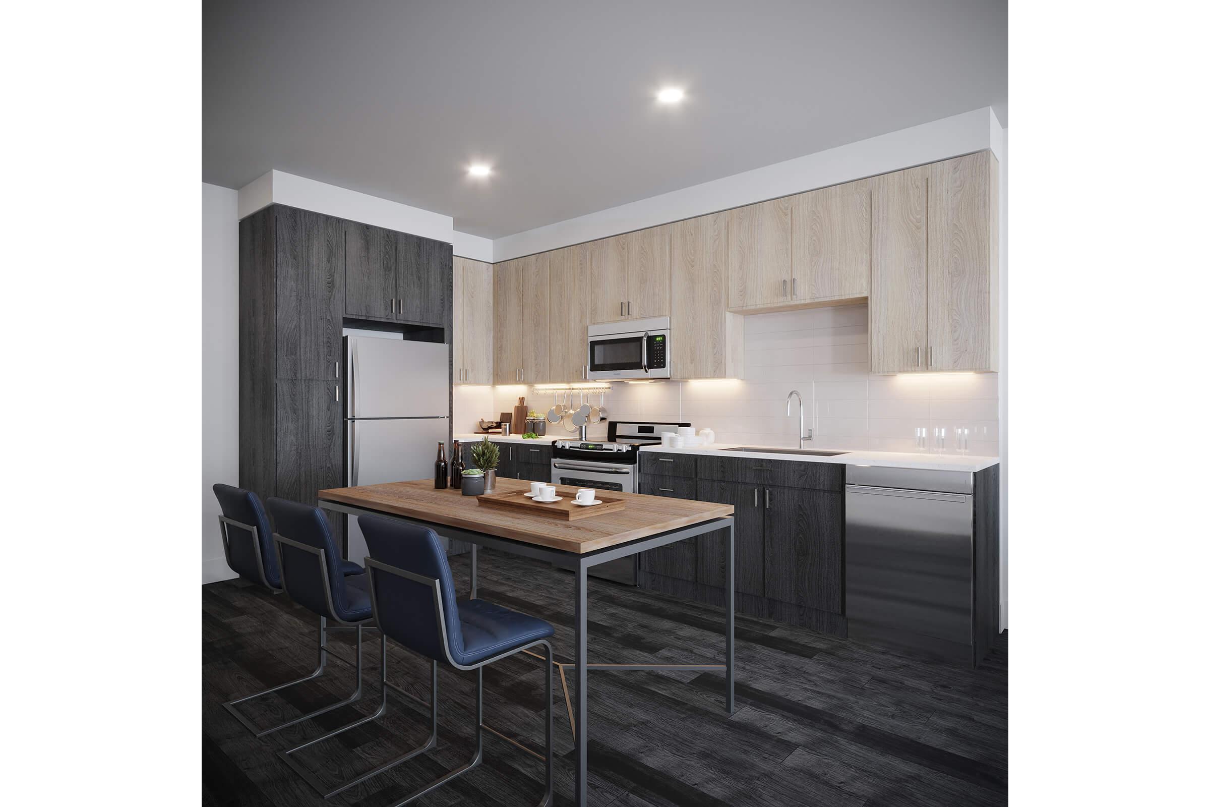 a kitchen counter