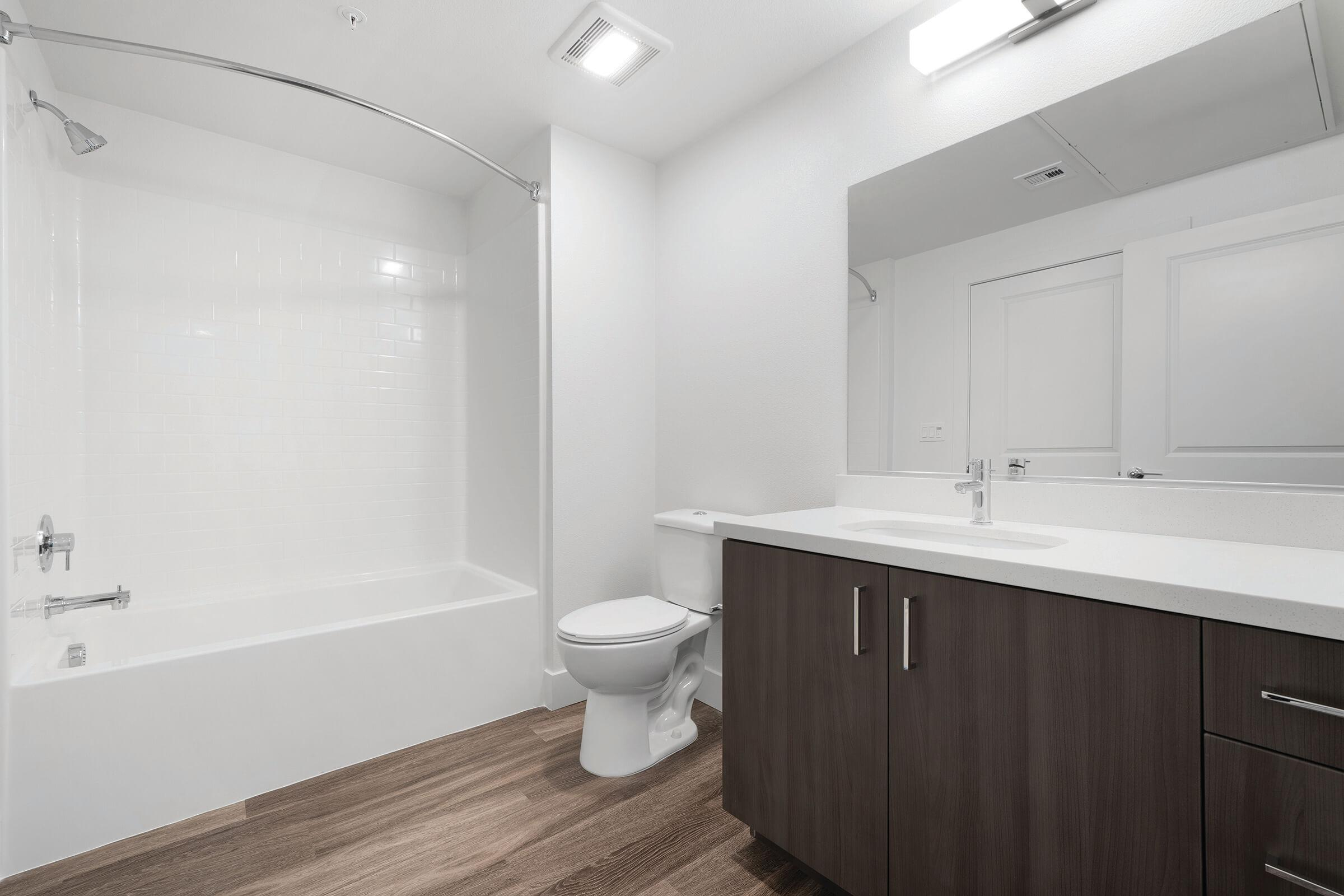 a shower and a sink