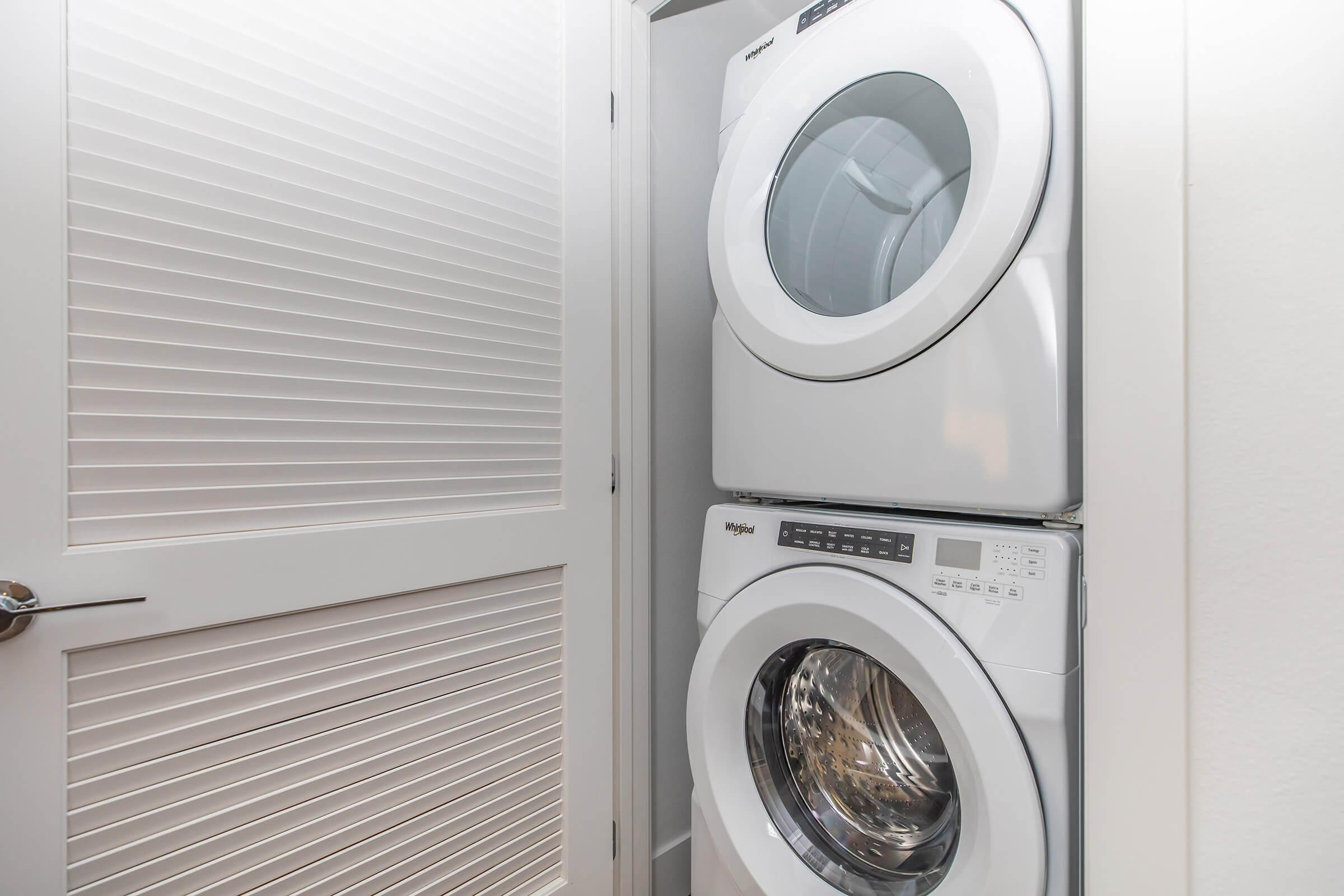 a washer in a small room
