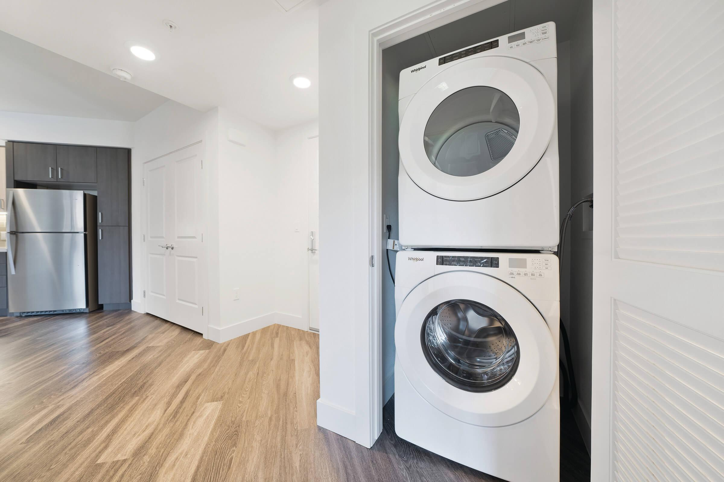 full-size washer and dryer