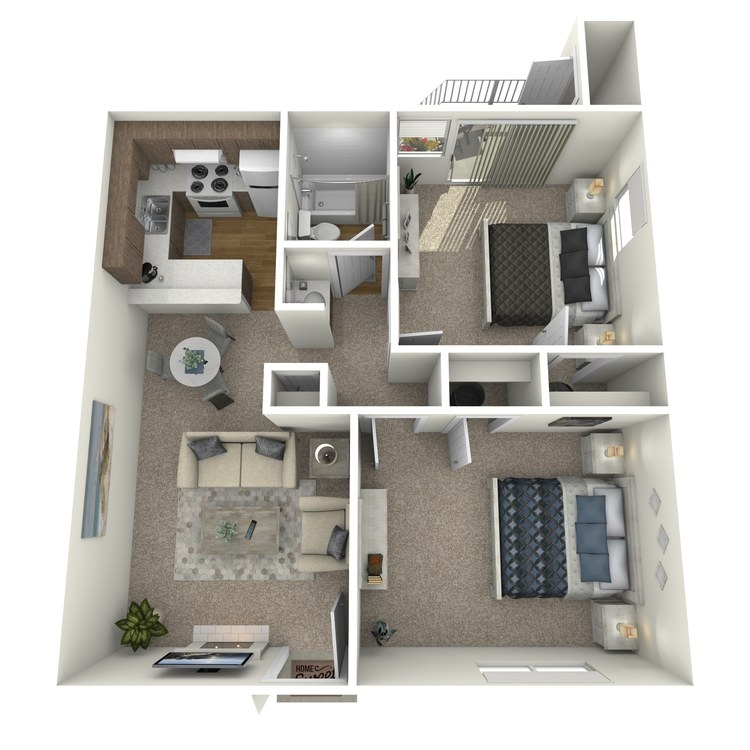 2 X 1 floor plan image
