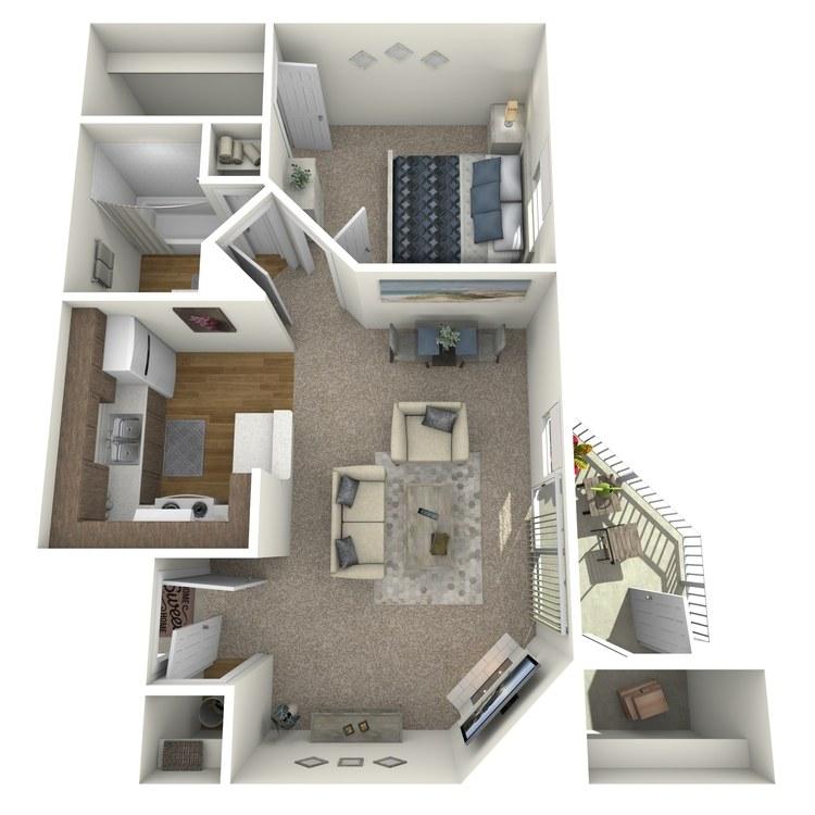 1 X 1 floor plan image