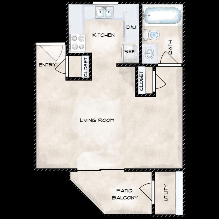 Floor plan image of 0 X 1