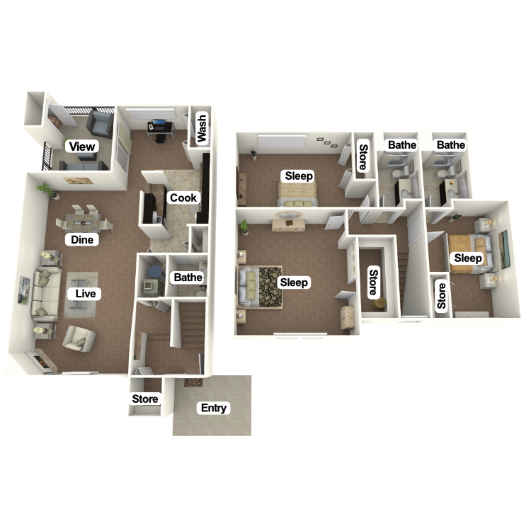 Floor plan image of The Monroe