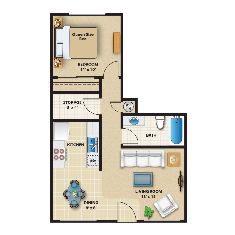Floor plan image of 1 Bed A