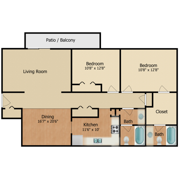 Floor plan image of The Evergreen