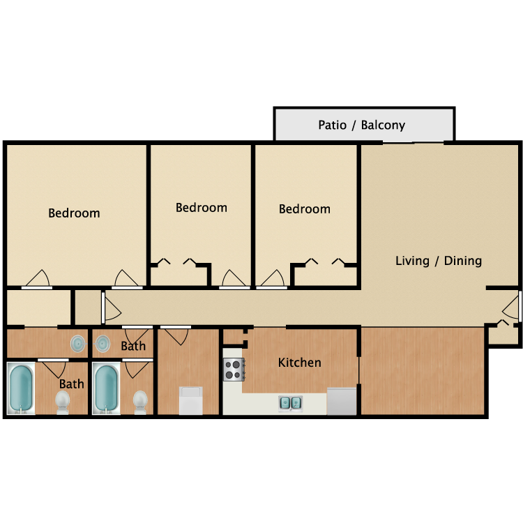 Floor plan image of The Montane