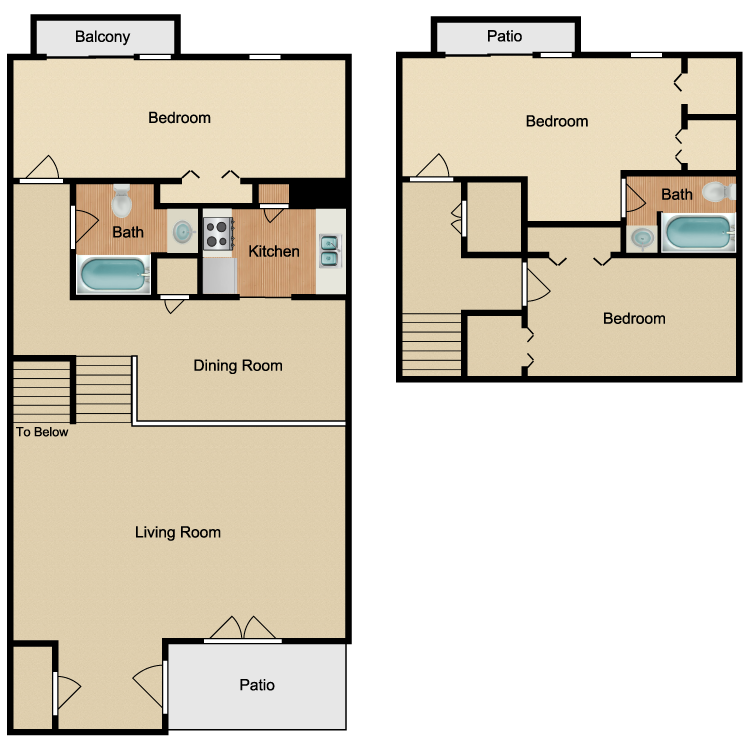 Floor plan image of 3 Bed 2 Bath Cottage
