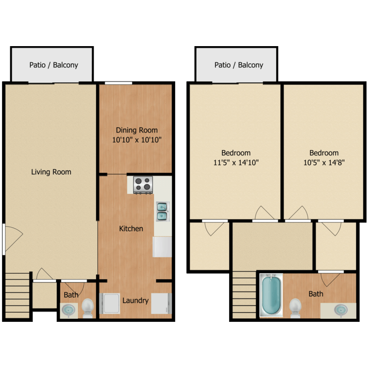 Floor plan image of The Aspen Townhome
