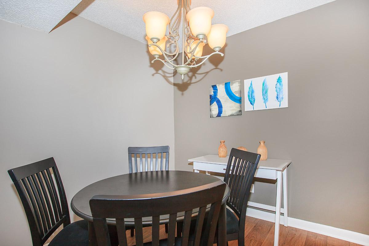 Dining Area in the Two Bedroom Woodbridge Floor Plan at Sussex Downs