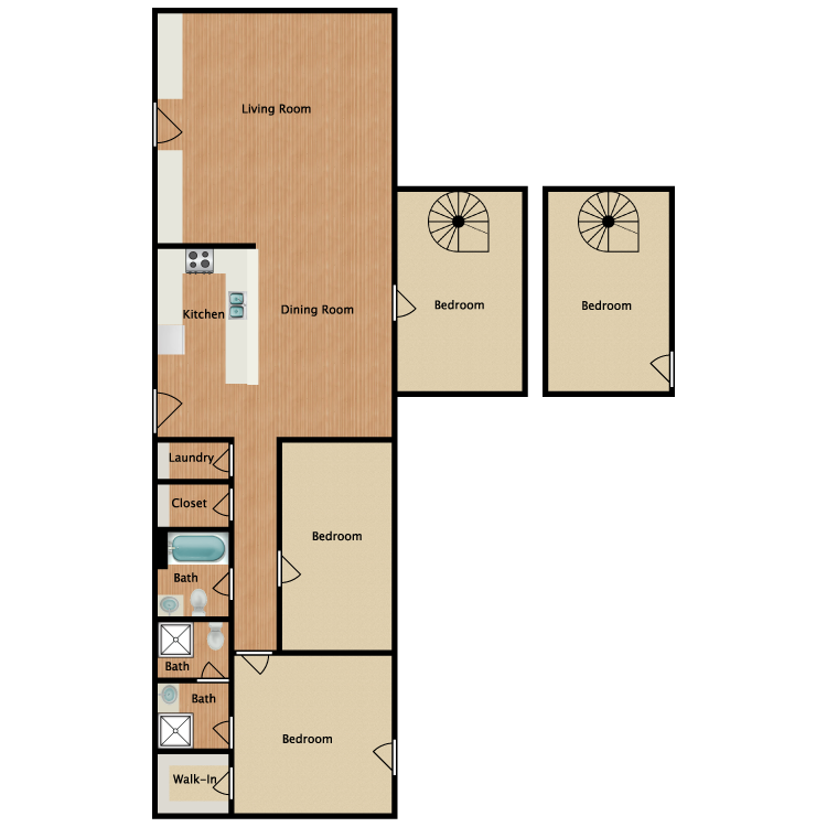 Floor plan image of The Oak