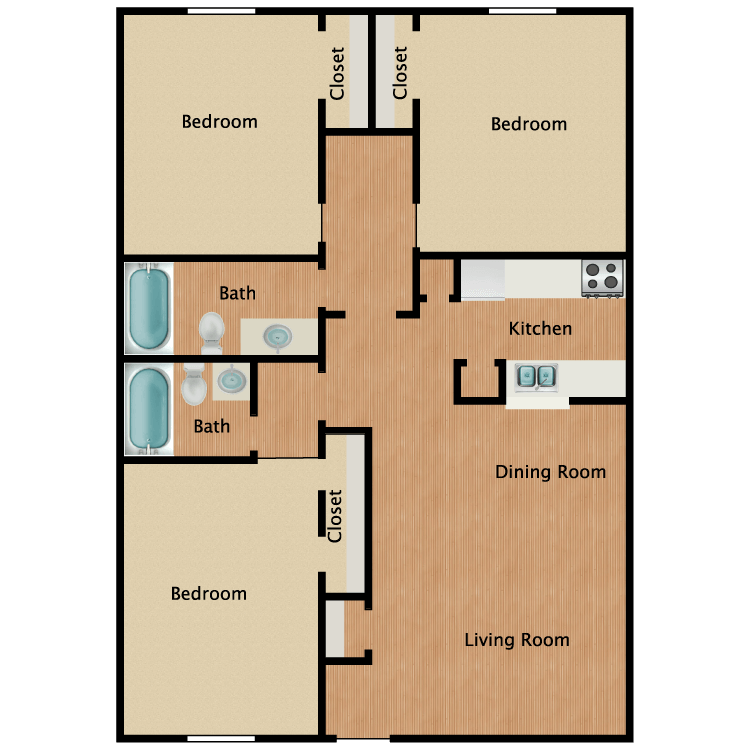 Floor plan image of The Walnut