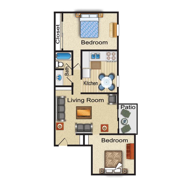 Floor plan image of York