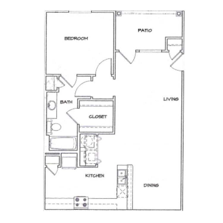 Floor plan image of A1 with Garage