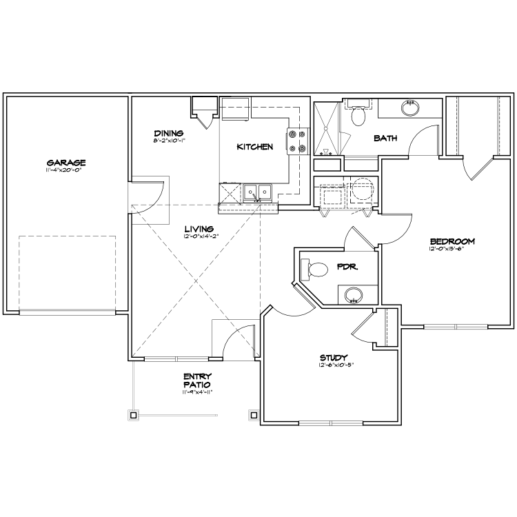 Floor plan image of A2 G