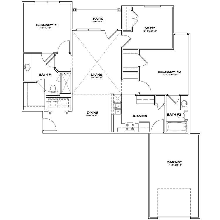 Floor plan image of B2 G