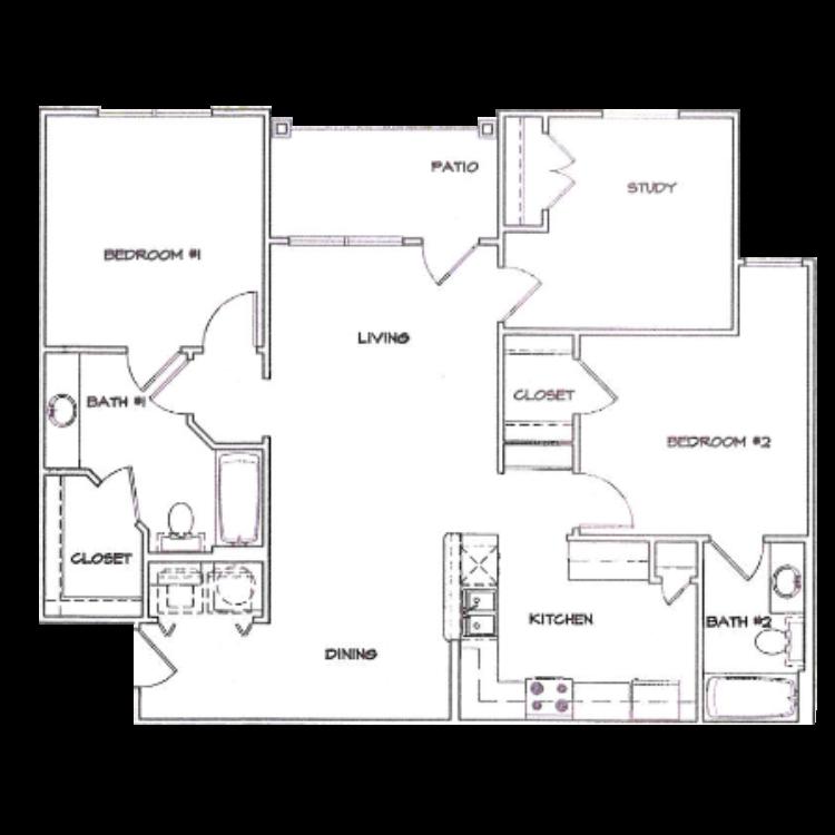 Floor plan image of B2 with Garage