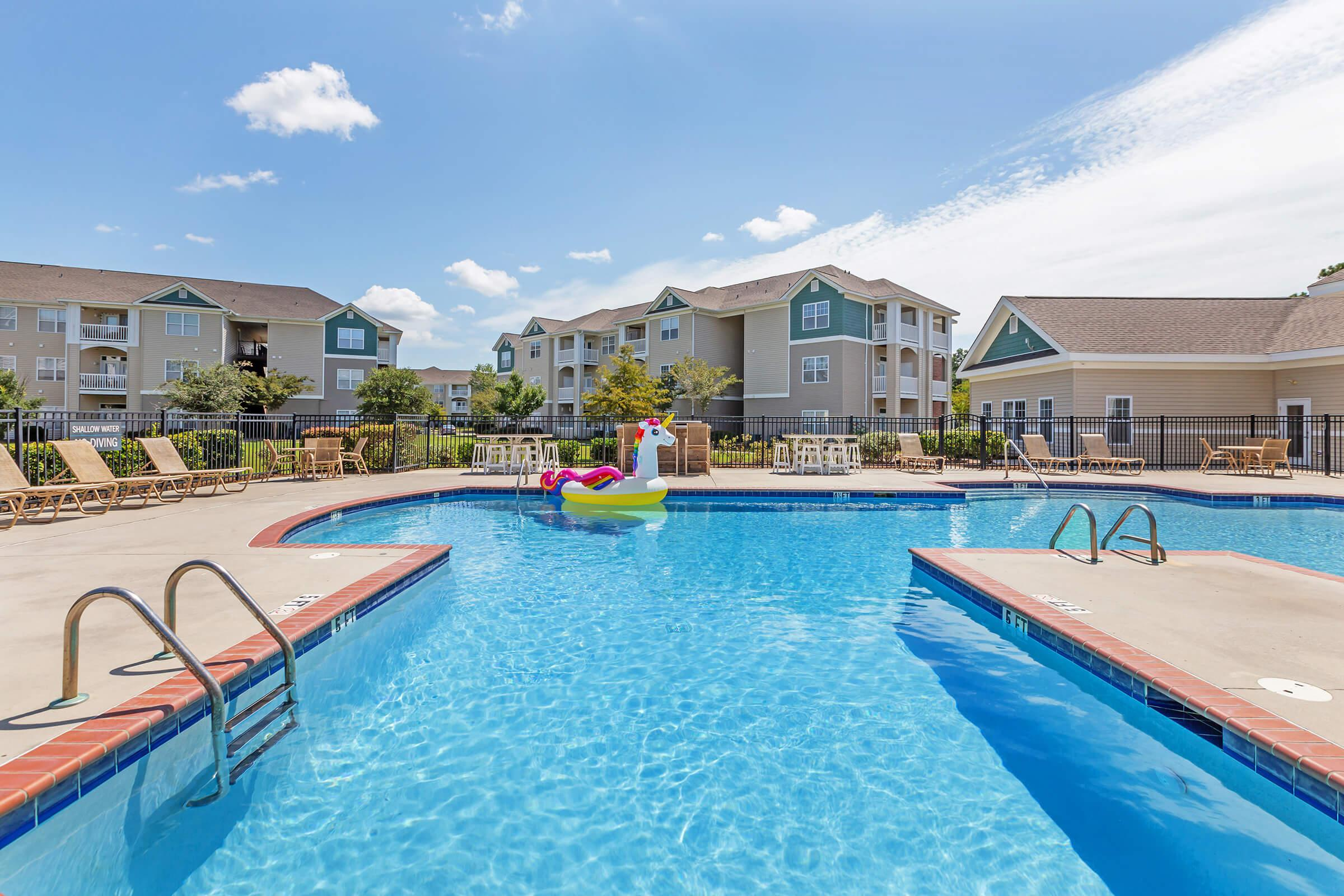 Enjoy Our Shimmering Swimming Pool At New Providence Park In Wilmington, NC