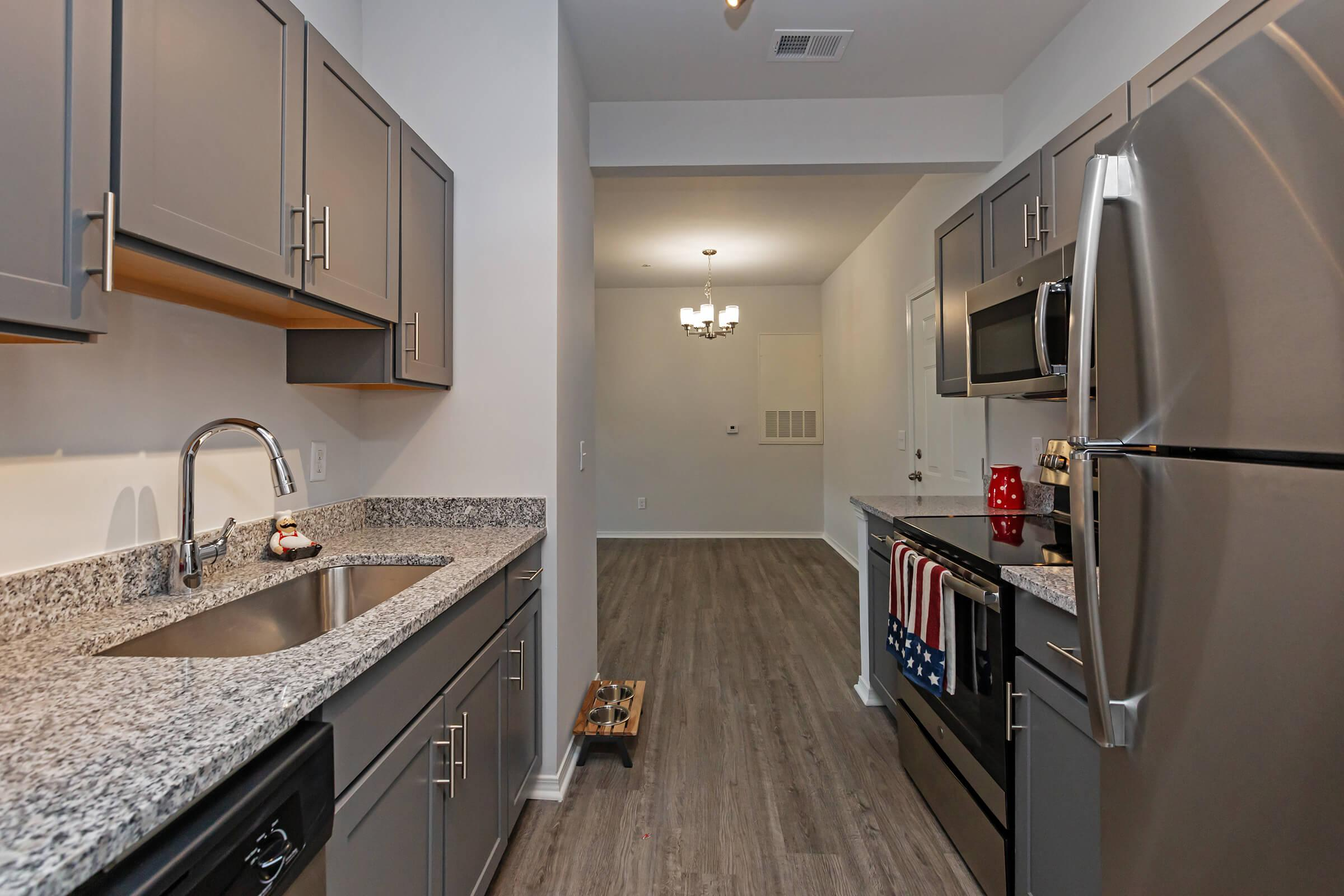 Fully Equipped Kitchen At New Providence Park In Wilmington, NC