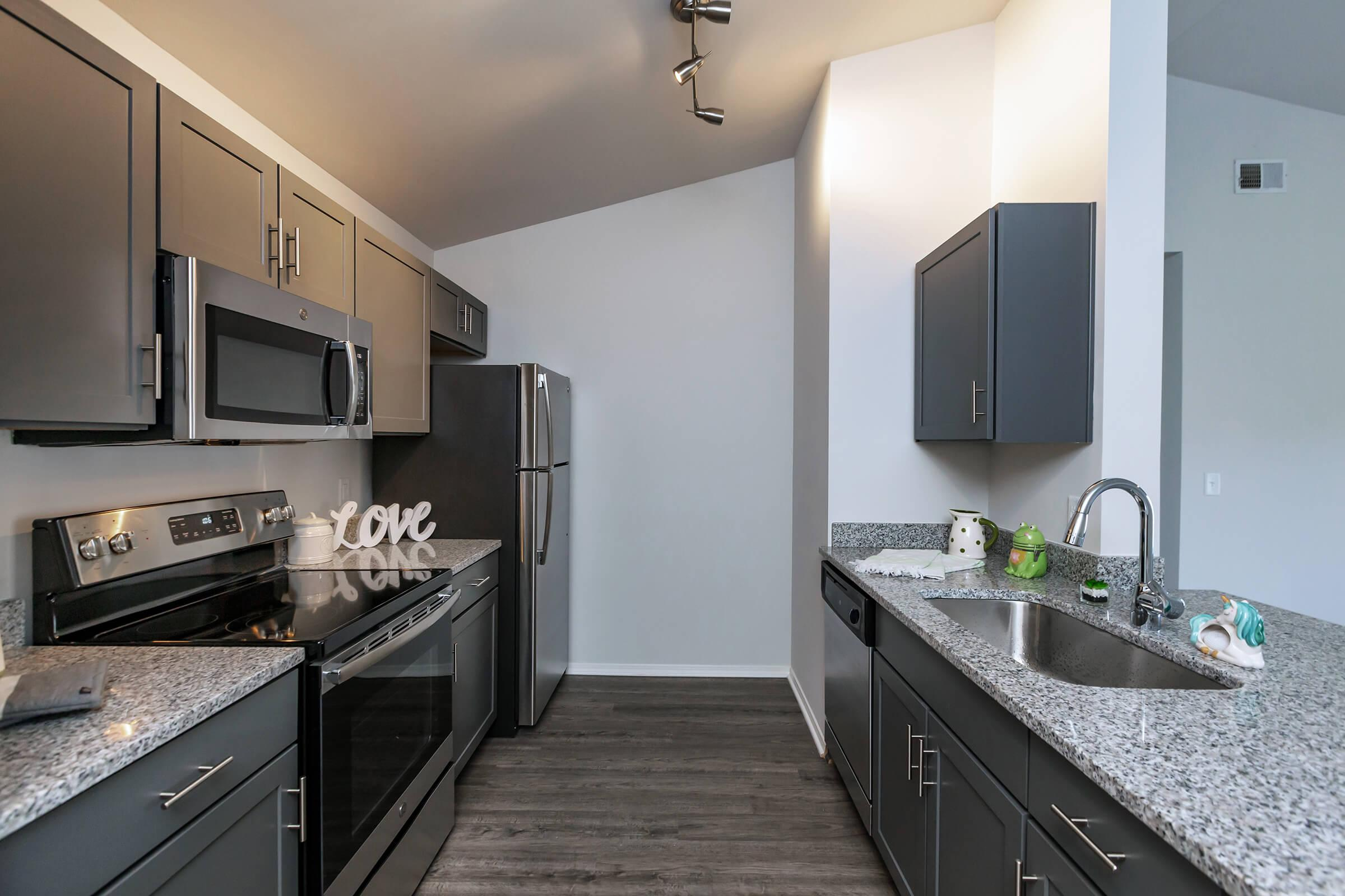 Modern Kitchen At New Providence Park In Wilmington, NC