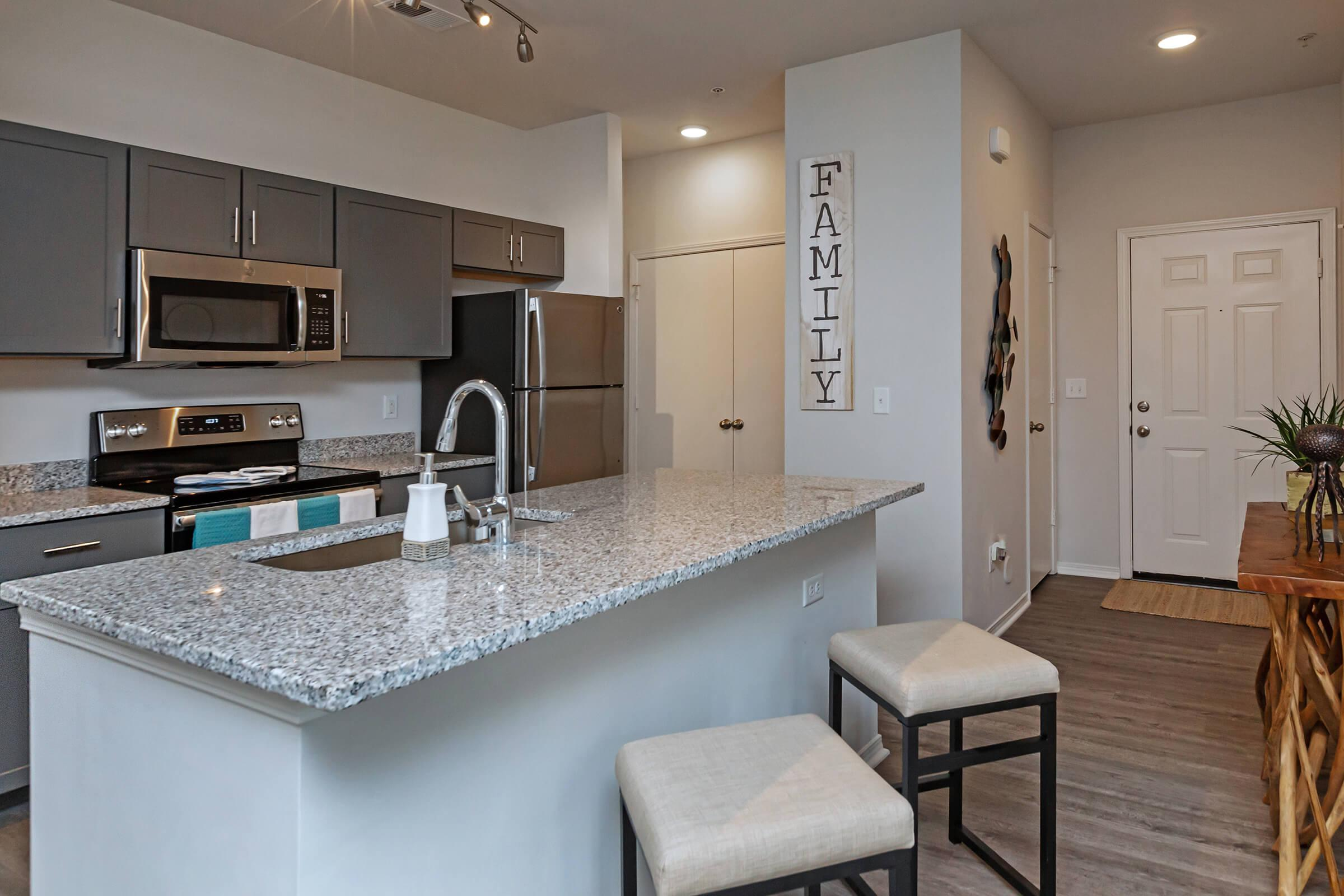 Spacious Kitchen Island with Storage At New Providence Park In Wilmington, NC