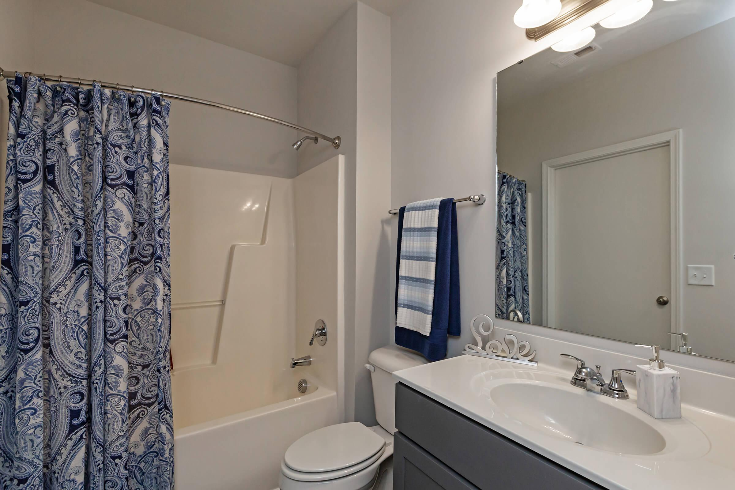 Beautifully Designed Bathroom At New Providence Park In Wilmington, NC