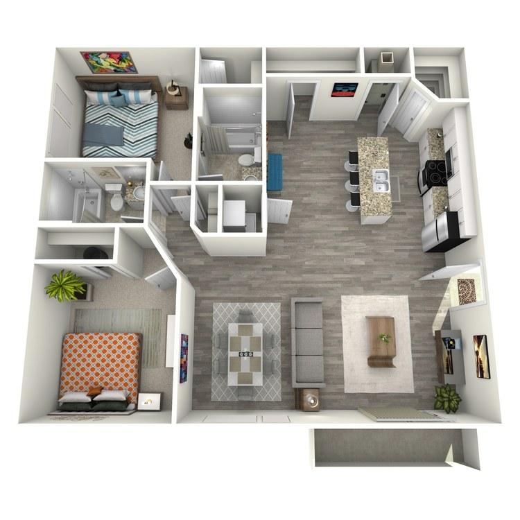 Floor plan image of 2x2 MOD