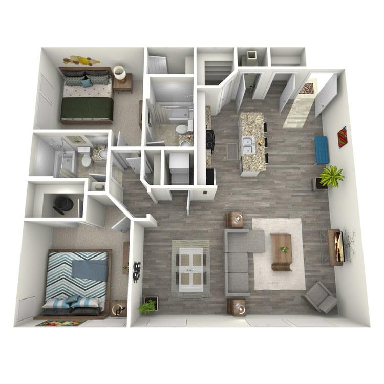 Floor plan image of 2x2